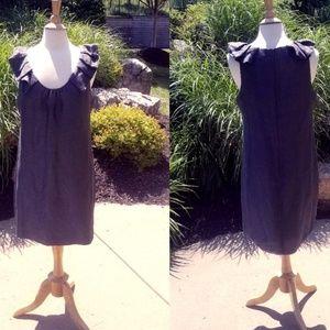 Sleeveless Silk/Linen Shift MIni Dress